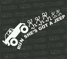 She's got a jeep vinyl decal funny stickers illest car window graphic boost mud