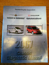 2007 TOWN & COUNTRY AND DODGE CARAVAN CHASSIS DIAGNOSTIC SHOP MANUAL