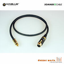 3m Adapterkabel CARBOKAB VIABLUE Sommer Cable XLR female Cinch..High End PREMIUM