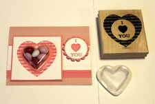 STAMPIN UP~Large Heart stamp~Valentine's day + 2 heart treat cups