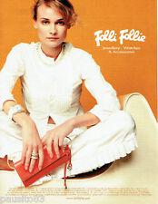 PUBLICITE ADVERTISING  026  2002  Folli Follie joaillier montres bijoux accesso
