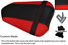 BLACK & RED CUSTOM 07-08 FITS YAMAHA 1000 YZF R1 REAR LEATHER SEAT COVER