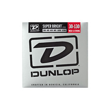 Jim Dunlop DBSBS30130 Medium 6 String Super Bright STEEL Bass Strings 30-130