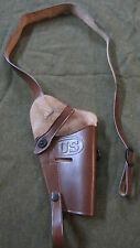 WWII US ARMY m1911 m1911a1 .45 PISTOL M3 SHOULDER HOLSTER-DARK BROWN