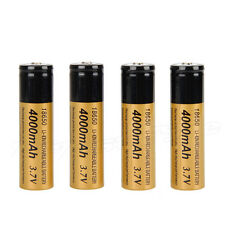 4pcs 4000mAh Rechargeable 18650 Battery For LED Headlight Headlamp Torch Light