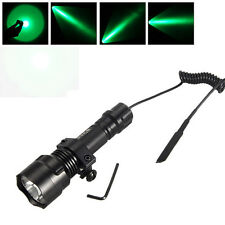 5000Lm XM-T6 LED C8 Flashlight Torch Hunting Bicycle Light+Pressure Switch+Mount