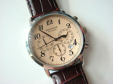 Sekonda Men's Chronograph Watch With Cream Dial & Brown Leather Strap N3462