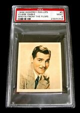 1934 Godfrey Phillips #5 CLARK GABLE Shots from the Films Trading Card ~ PSA 9
