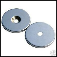 Circular Disc Magnet + central hole Neodymium 20x2mm Grade North N42. 2.2Kg PULL