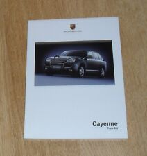 Porsche Cayenne Price List & Specification Guide 2005 - 3.2 4.5 S Turbo