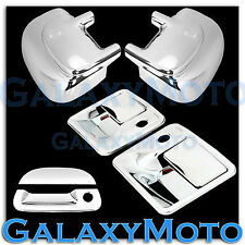 Ford Super Duty F250+F350 Chrome Mirror+2 Door Handle w/ PSG KH+Tailgate Cover
