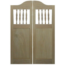 """CUSTOM OAK CABINET SHAKER STYLE CAFE SALOON DOORS 42""""-48"""" OPENINGS W/HD KITCHEN"""