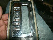 1966 1967 FORD FAIRLANE GT XL FACTORY FLOOR CONSOLE AUTOMATIC SHIFTER LETTERING