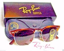 RAY-BAN *NOS VINTAGE B&L CLUBMASTER II W1117 Blond Tortoise *NEWinBOX SUNGLASSES