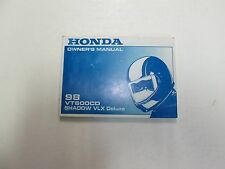 1998 Honda VT600CD Shadow VLX Deluxe Owners Manual MINOR WEAR OEM FACTORY DEAL