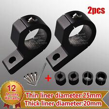 "2X 0.8"" 1"" 1.18"" 25mm MOUNT BRACKET CLAMP FOR LED LIGHT ROOF ROLL CAGE TUBE BAR"