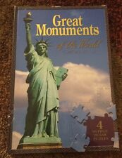 Great Monuments Of The World:  Book with 4 Puzzles