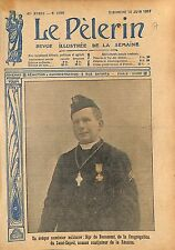 Portrait Evêque Aumônier Militaire Mgr de Beaumont   WWI 1917 ILLUSTRATION