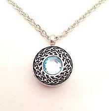 Bleu celtique cercle urne collier pendentif-crémation urne bijoux cendre souvenir