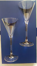 VODKA GREY GRAY GOOSE  LOT OF 6 COCKTAIL MARTINI GLASSES GLASS ETCHED