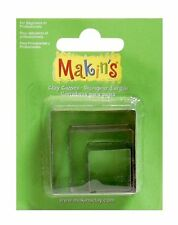 Makin's Clay Cutter Mold Set 3 Sizes Per Package SQUARE M360-2 Box Cutters