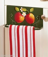 Country Apple Over The Door Towel Bars Pull Cabinet Towel Rack Kitchen Decor
