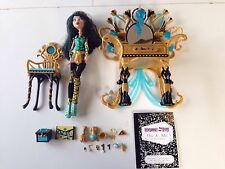 Monster High Dead Tired Cleo De Nile With Vanity & Accessories