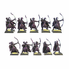 WARHAMMER FANTASY  ARMY WOOD ELF GLADE GUARD X10  PAINTED  AND BASED