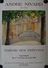 Affiche ANDRÉ NIVARD 1985 Exposition Galerie des Orfèvres