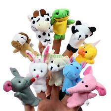 10pcs Family Finger Puppets Cloth Doll Baby Educational Hand Cartoon Animal Toys