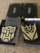 Car Metal Crystal Badge Emblem Sticker Transformers Decepticon 3D Logo