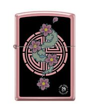 Zippo 238 Anne Stokes Collection Pink Flower Design Lighter RARE