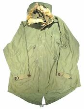 Vintage Original M-48 M-1948 WWII US Army Fishtail Parka Fur Large