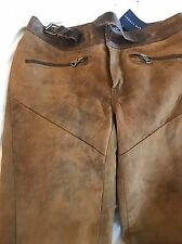 Ralph Lauren Suede Leather Trousers Size US 2 Uk 6