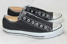NEW All Star Chuck Taylor Converse Slip On Sneakers Laceless- Black Mens 8 (T23)