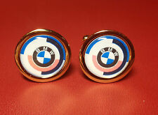 BMW  HIGH QUALITY GOLD PLATED CUFFLINKS IN DISPLAY CASE