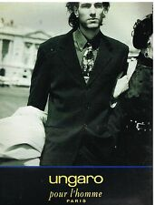 Publicité Advertising 1992 Haute Couture Homme Costume Ungaro