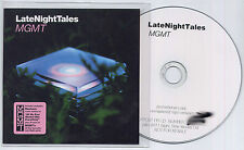 MGMT Late Night Tales UK #'d promo test CD Great Society Suicide Bauhaus