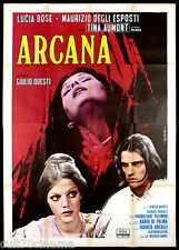 ARCANA MANIFESTO CINEMA LUCIA BOSE DE SETA HORROR ITALIA 1971 MOVIE POSTER 4F