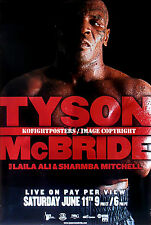 MIKE TYSON vs. KEVIN McBRIDE / Original SHOWTIME PPV Boxing Fight Poster