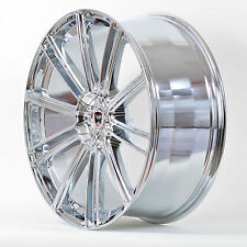 4 GWG Wheels 22 inch Chrome FLOW Rims fits 5x114.3 INFINITI QX60 2014 - 2017