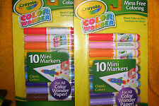 LOT OF 2 PACKS OF CRAYOLA COLOR WONDER MARKERS, 10 PER PACK, NEW