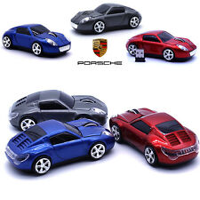 2.4GHz Porsche Wireless 1600DPI 3D Car Shape Optical Gaming Mouse Red/Blue/Grey