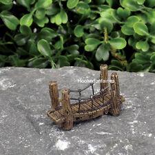 Miniature  Micro Suspension Bridge 17428  Fairy Garden Dollhouse Terrarium