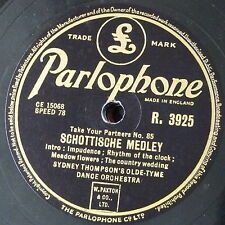 78rpm SYDNEY THOMPSON OLDE TYME DANCE ORCH schottische medley / scottish medley