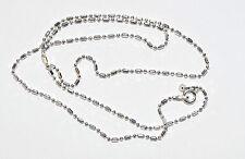 925 Silber Halskette - Kugelkette Ø 1,5 mm, Länge: 50 cm - DOG TAG KETTE