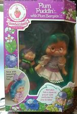 Rare Vintage 80s Strawberry Shortcake Plum Puddin Berrykin Doll In Box NRFB