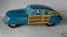 St John Chad Valley Vintage Tinplate Working American Friction Car 19cm Long