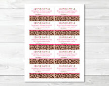 Pink Cheetah Print Printable Baby Shower Diaper Raffle Tickets