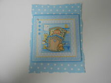 PK 2 CUTE CRADLE BABY BOY EMBELLISHMENT TOPPERS FOR CARDS